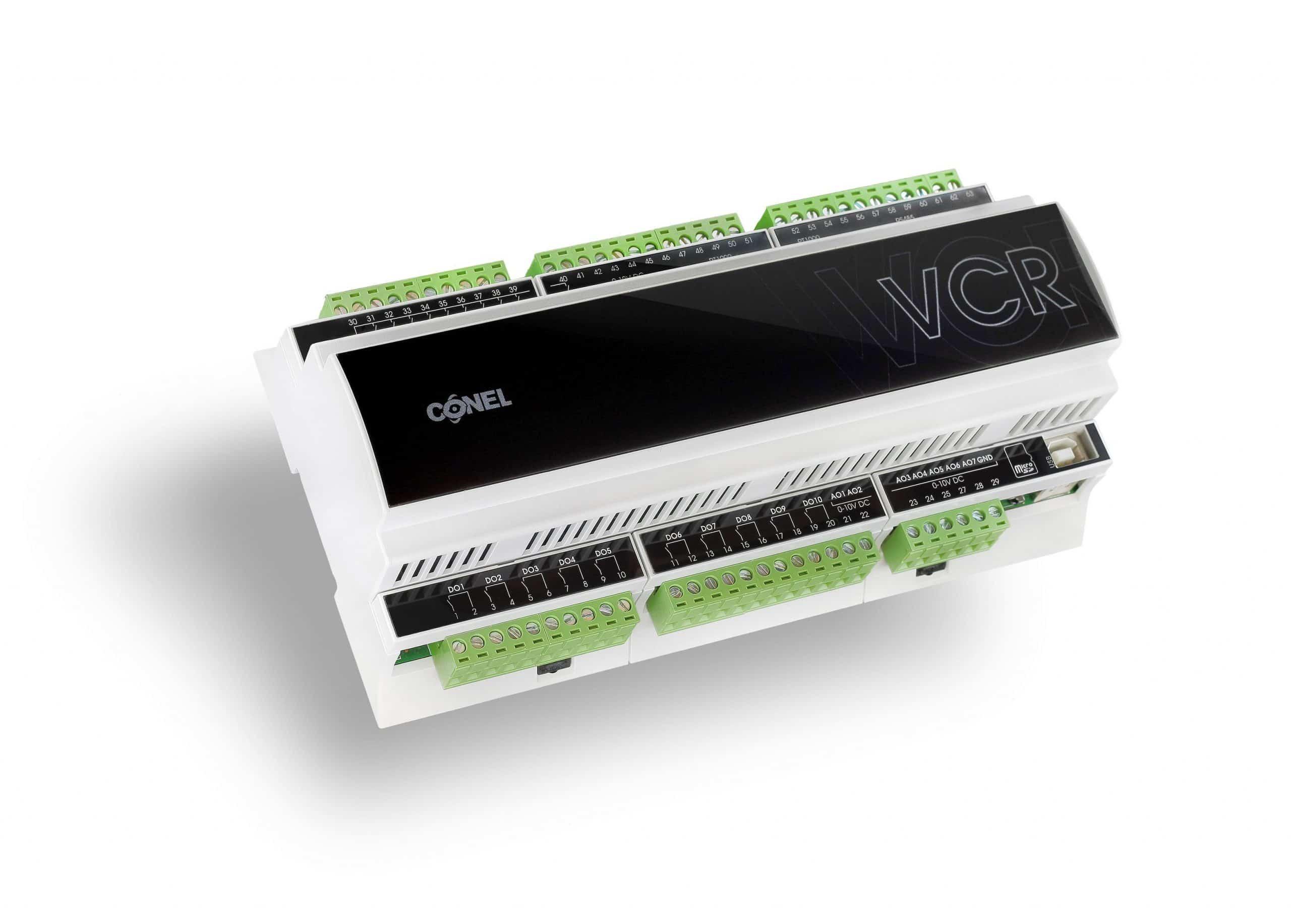 Sterownik VCR do swobodnego programowania hvac DIN z ukosa